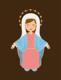 Projeto santamente de Mary ilustração do vetor