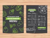 Projeto saudável do menu do vegetariano e do vegetariano do restaurante ilustração royalty free