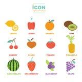Projeto saudável do vetor do fruto do ícone Fotos de Stock Royalty Free