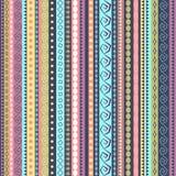 Projeto sem emenda étnico colorido do teste padrão Fotografia de Stock