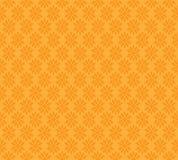 Projeto sem emenda alaranjado do vetor do fundo do teste padrão do amarelo abstrato da flor do bloco Fotos de Stock Royalty Free