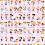 Projeto sem emenda com crianças ilustração royalty free