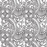 Projeto sem emenda da página do livro para colorir do ornamento de Zentangle do teste padrão ilustração do vetor