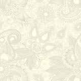 Projeto sem emenda de paisley da flor Imagens de Stock Royalty Free