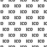 Projeto sem emenda do conceito de ICO Imagem de Stock