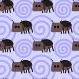 Projeto sem emenda do fundo do besouro de estrume dos desenhos animados Fotografia de Stock