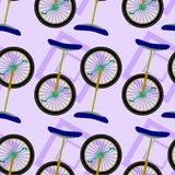 Projeto sem emenda do fundo do Unicycle Foto de Stock