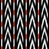 Projeto sem emenda do teste padrão do ikat preto e branco para a tela Imagem de Stock