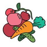 Projeto sem emenda do teste padrão dos vegetais bonitos ilustração stock