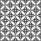 Projeto sem emenda preto e branco do teste padrão do vetor Fotos de Stock Royalty Free