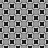 Projeto sem emenda preto e branco do teste padrão do vetor Imagem de Stock