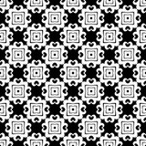 Projeto sem emenda preto e branco do teste padrão do vetor Foto de Stock