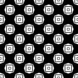 Projeto sem emenda preto e branco do teste padrão do vetor Foto de Stock Royalty Free