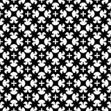 Projeto sem emenda preto e branco do teste padrão do vetor Imagem de Stock Royalty Free