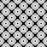 Projeto sem emenda preto e branco do teste padrão do vetor fotos de stock
