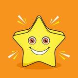Projeto Shinning dos desenhos animados da mascote da estrela ilustração stock