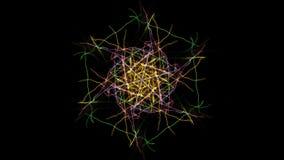 Projeto simétrico e colorido Gráfico de Digitas fotografia de stock