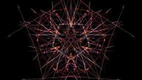 Projeto simétrico e colorido Gráfico de Digitas foto de stock