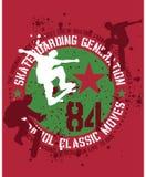 Projeto Skateboarding ilustração royalty free