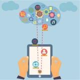 Projeto social da informática dos meios com multi Foto de Stock Royalty Free