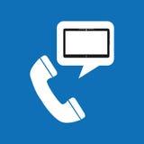 Projeto social dos meios da chamada telefônica da tecnologia ilustração do vetor
