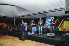 Projeto Som do Coreto gebeurtenis bij het vierkant van Praca Cuiaba met royalty-vrije stock foto