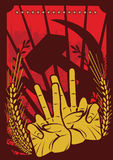 Projeto soviético do poster ilustração stock
