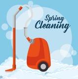 Projeto Spring cleaning ilustração do vetor