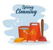 Projeto Spring cleaning ilustração royalty free