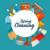 Projeto Spring cleaning ilustração stock