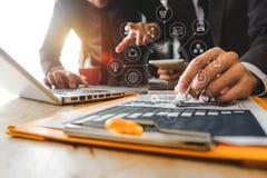 projeto startup novo Conceito de trabalho da reunião da equipe, foto de stock royalty free