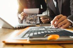 projeto startup novo Conceito de trabalho da reunião da equipe, imagem de stock royalty free