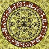 Projeto sujo do papel de parede do otomano antigo ilustração stock