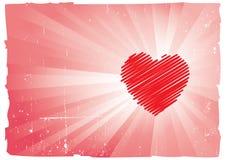 Projeto sujo e Scribbled do coração Imagem de Stock Royalty Free