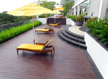 Projeto superior do jardim do telhado Imagem de Stock Royalty Free