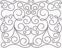 Projeto swirly simétrico do vetor Foto de Stock Royalty Free