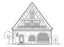 Projeto típico velho da casa Foto de Stock