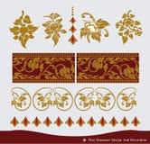 Projeto tailandês do ornamento e do teste padrão do vintage Imagem de Stock Royalty Free