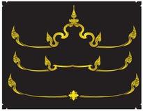 Projeto tailandês e beira do ornamento tailandeses Fotos de Stock Royalty Free