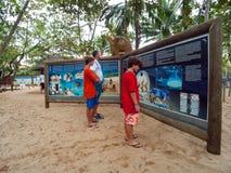 Projeto Tamar at Praia do Forte, Brazil. Mata de São João, Bahia/ Brazil - July 5, 2005 -  Projeto TAMAR exposition center at Praia do Forte stock photos