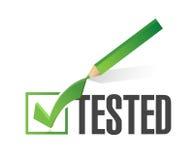 projeto testado da ilustração da marca de verificação ilustração do vetor