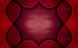 Projeto Textured vermelho original do fundo do quadro Fotografia de Stock