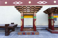 Projeto tibetano colorido imagens de stock