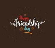 Projeto tipográfico do vetor feliz do dia da amizade Imagem de Stock