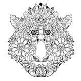 Projeto tirado da flor do macaco ícone-mão principal Fotografia de Stock Royalty Free