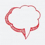 Projeto tirado mão do símbolo da ilustração do discurso da bolha ilustração do vetor