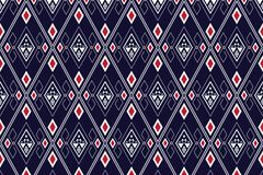 Projeto tradicional do teste padrão étnico geométrico para o fundo, tapete, papel de parede, roupa, envolvendo, Batik, tela, saro ilustração do vetor