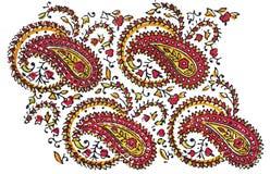 Projeto tradicional indiano de matéria têxtil Fotografia de Stock Royalty Free