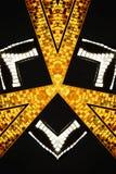 Projeto triangular abstrato Foto de Stock