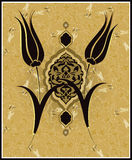 Projeto turco do tulip do otomano tradicional Imagens de Stock